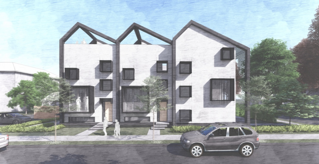 Passive House triplex proposed for Grandview-Woodland in Vancouver
