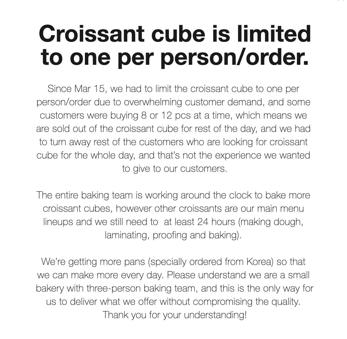 cube croissants toronto