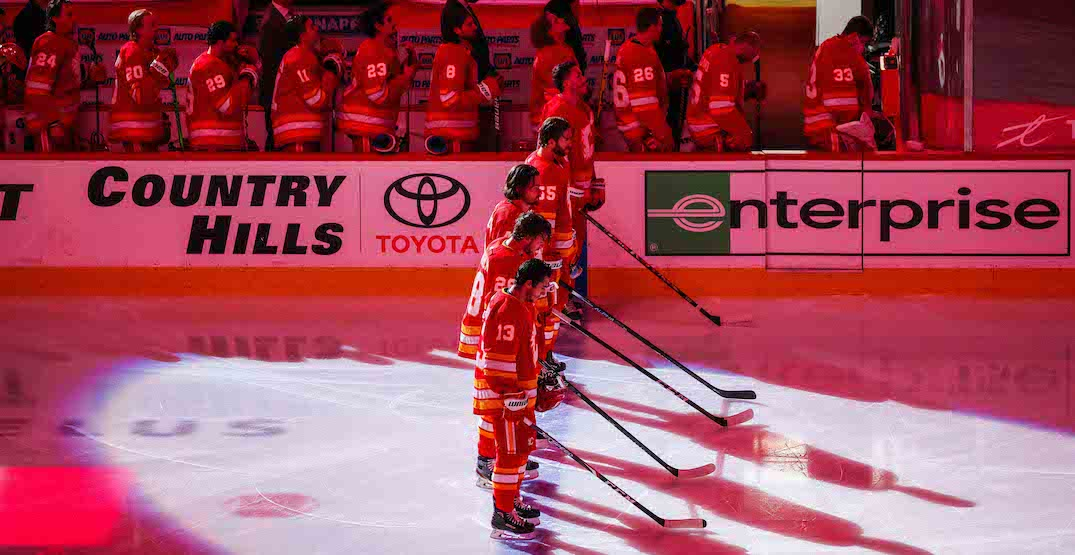 Flames cancel practice after player tests positive with COVID-19