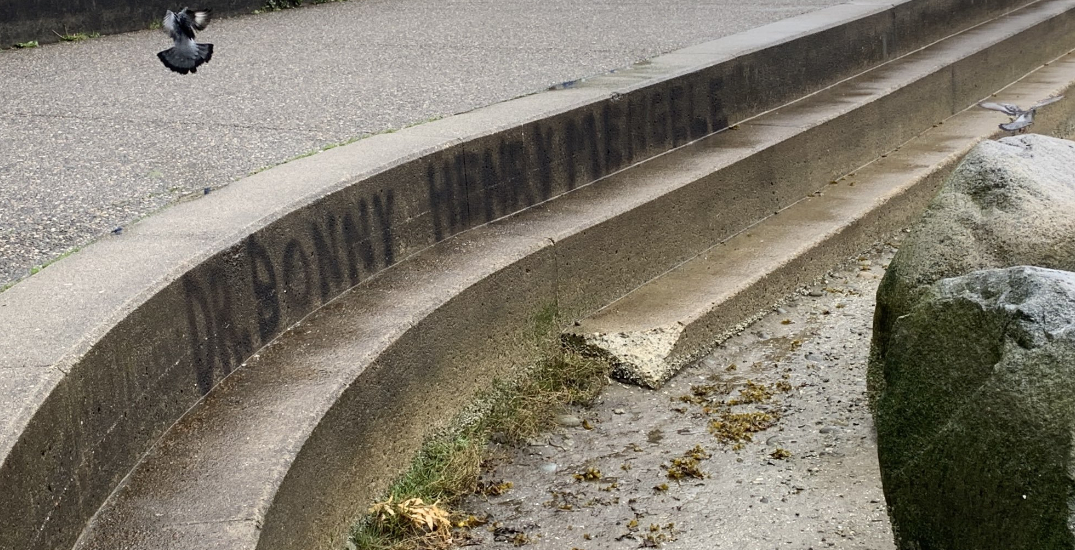 """Graffiti comparing Dr. Bonnie Henry to Nazi """"Angel of Death"""" covered up by City of Vancouver"""