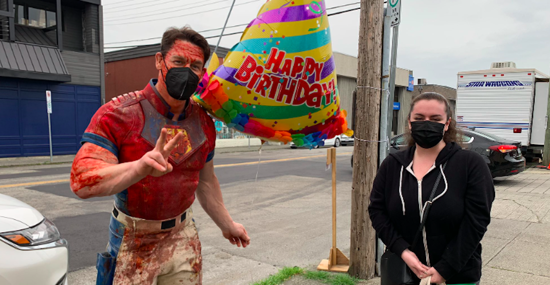 John Cena spotted filming in Vancouver on his birthday