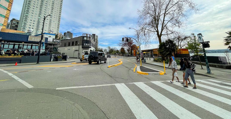 beach avenue bike lane