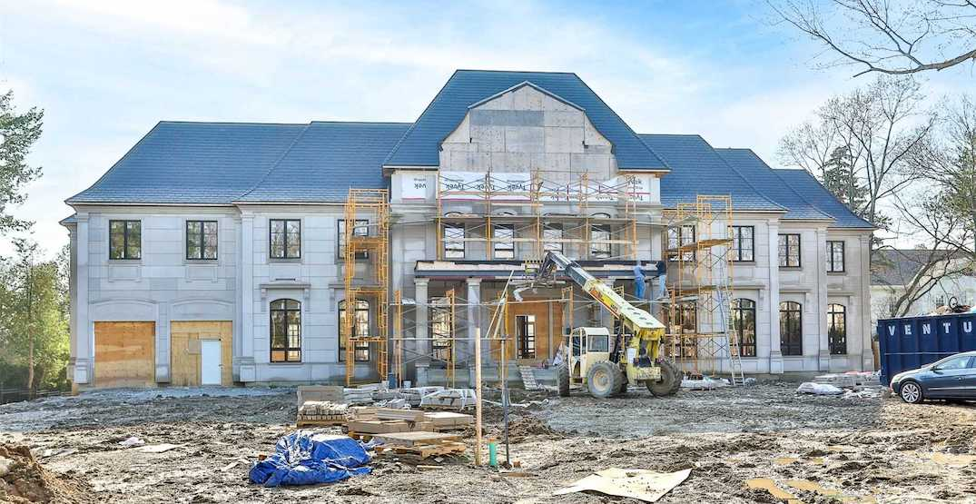 This $45 million under-construction mansion on Drake's street just hit the market