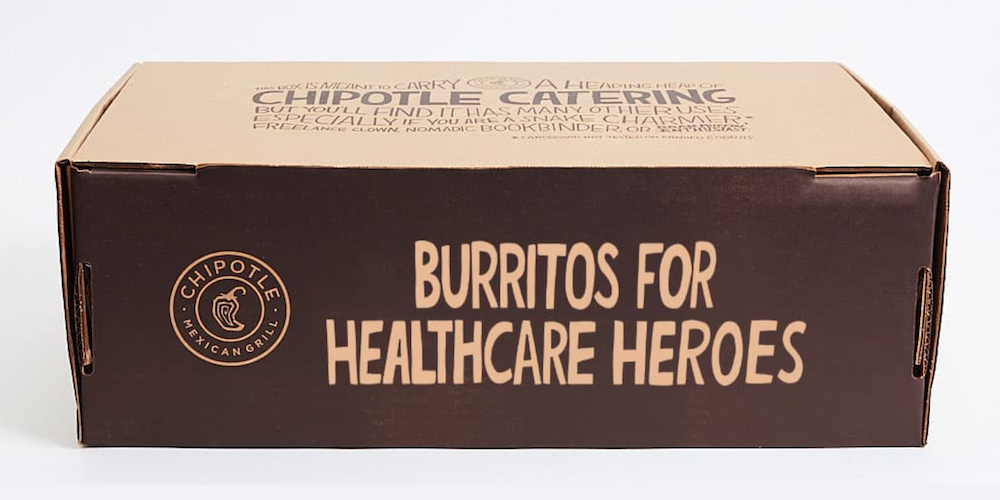 Chipotle is giving away 250,000 FREE burritos to healthcare heroes