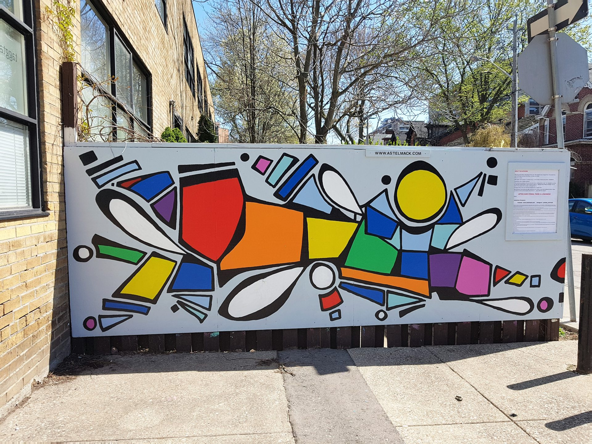 rainbow mural toronto