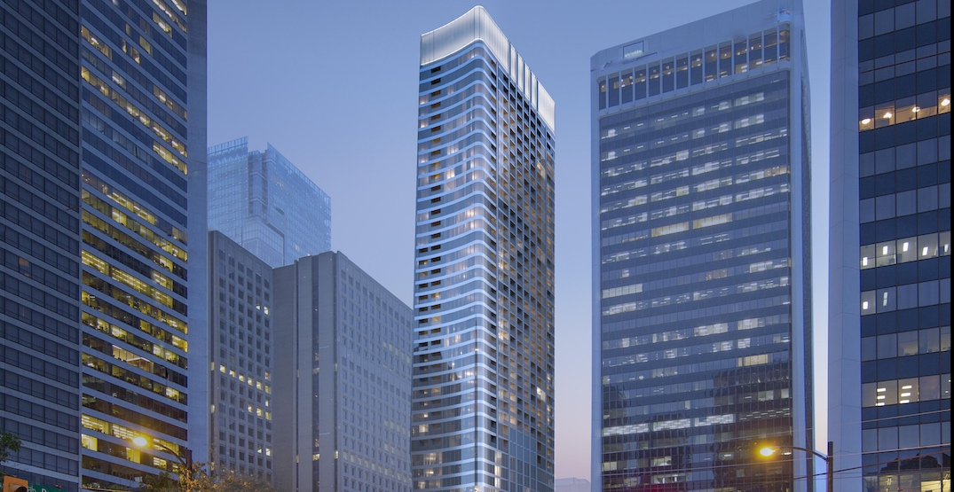46-storey tower with 478 rental homes proposed next to SkyTrain Burrard Station