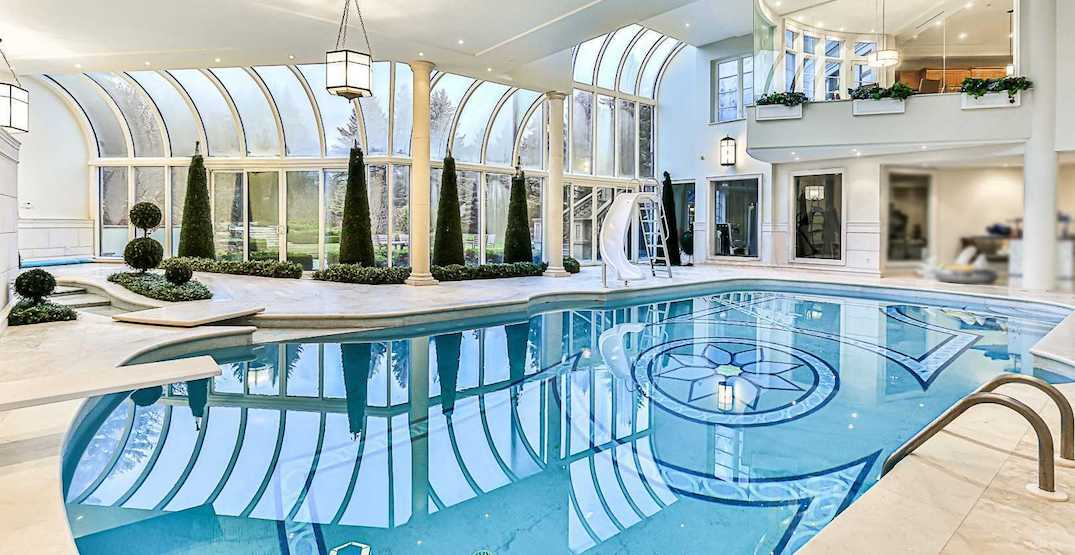 This $25 million Toronto mansion has a massive indoor basketball court and pool