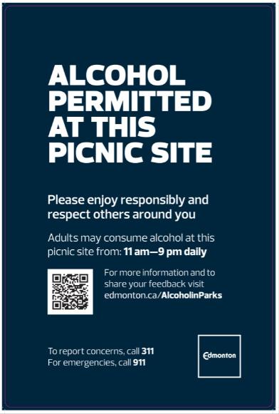 drink Edmonton parks