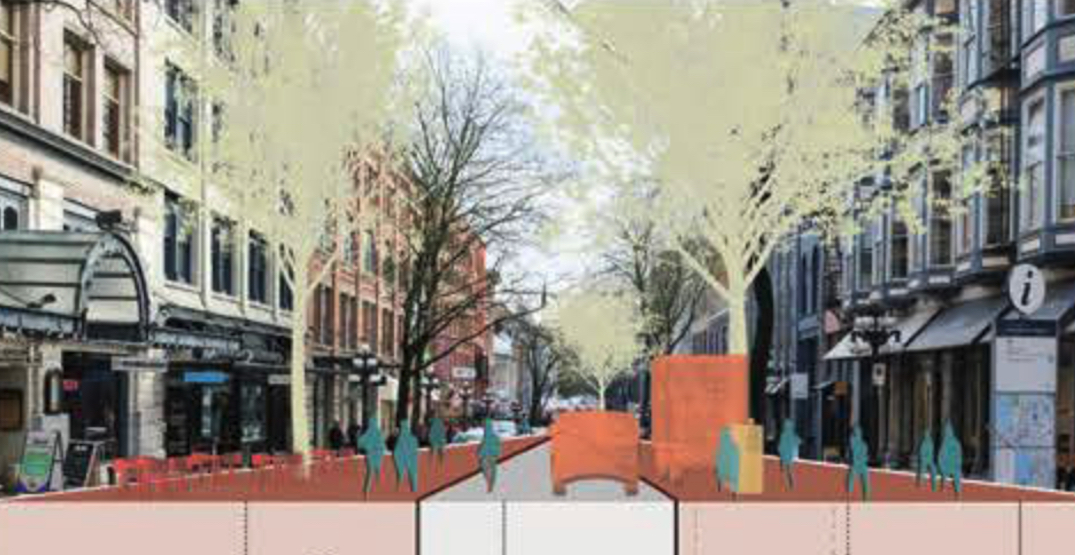 New vision for Gastown narrows roads for pedestrian spaces, relocates Steam Clock