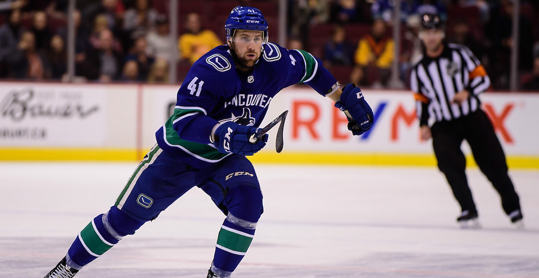 Jonah Gadjovich claimed off waivers from Canucks by San Jose
