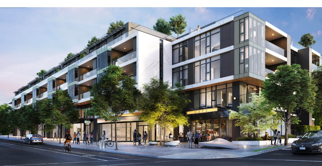 Construction begins on city block-sized housing and retail building in Dunbar Village