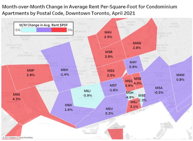 toronto rent prices up