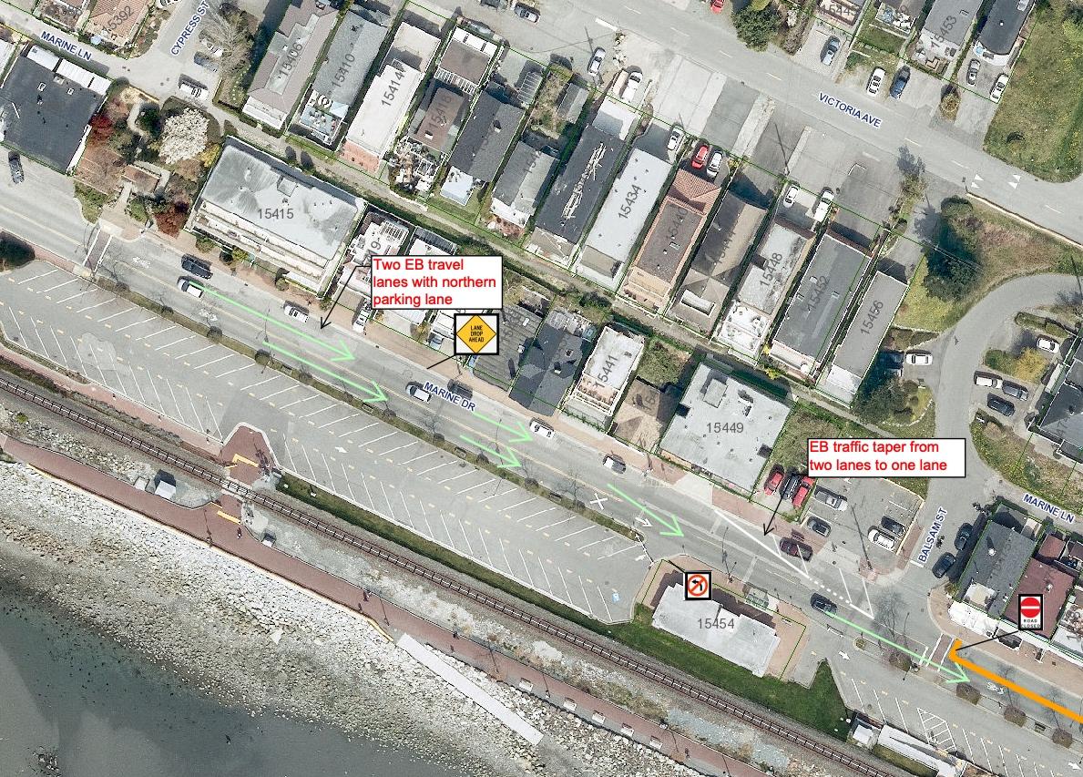 marine drive white rock waterfront closure