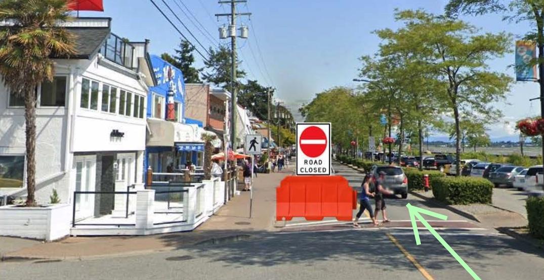 Marine Drive lane closure in White Rock for restaurant patios begins Monday