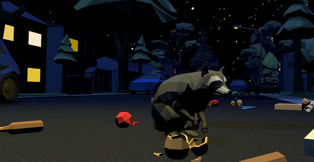 This video game lets you roam Toronto streets as a garbage-loving racoon