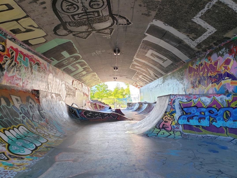leeside tunnel skateboard park hastings park pne