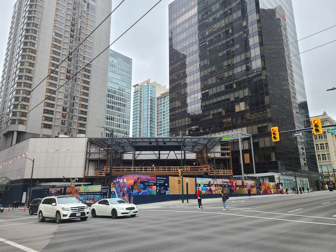 four seasons hotel cf pacific centre apple store construction march 27 2021
