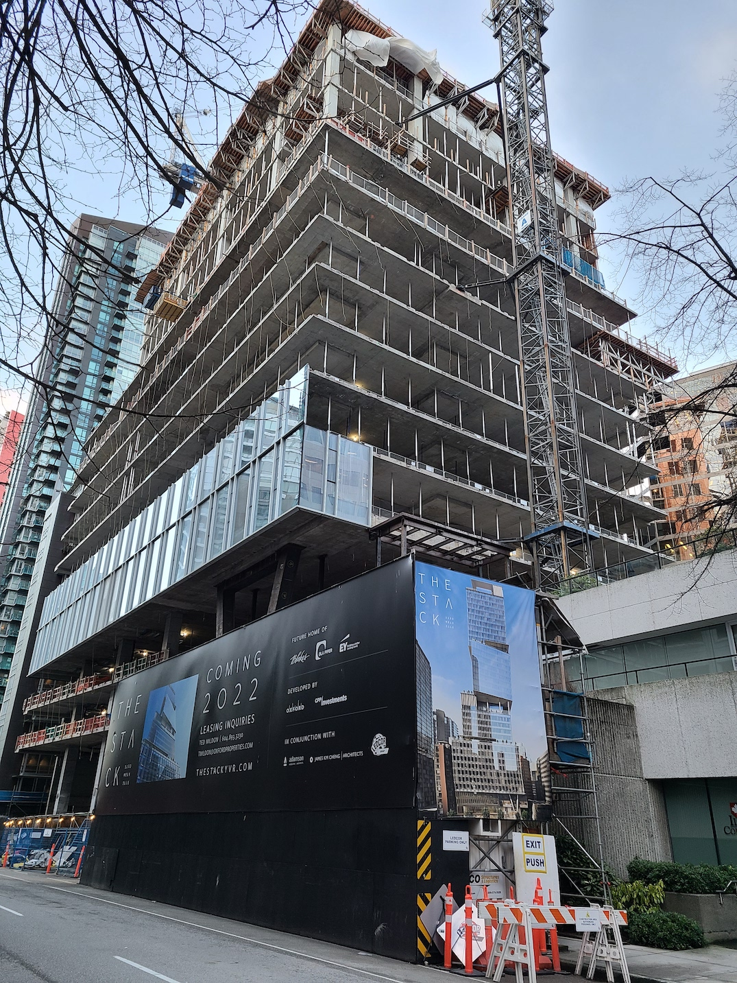 the stack melville office tower vancouver february 6 2021