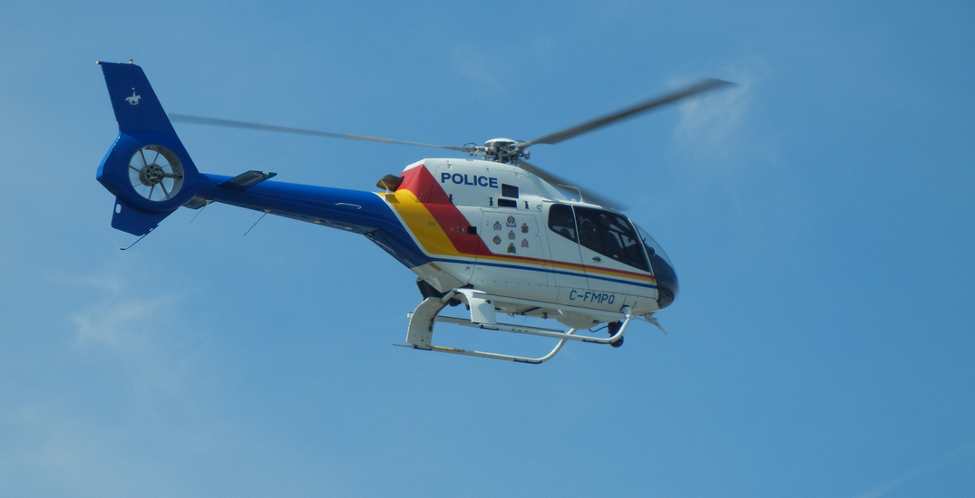 RCMP helicopter helps break up weekend crowds at English Bay