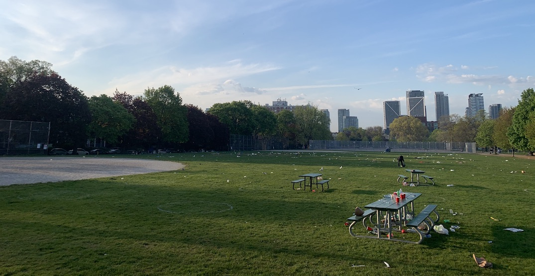 Trinity Bellwoods was trashed after people soaked up the sun this weekend