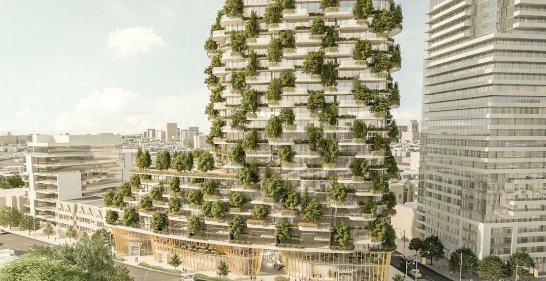 22-storey vertical forest planned for Toronto Annex development