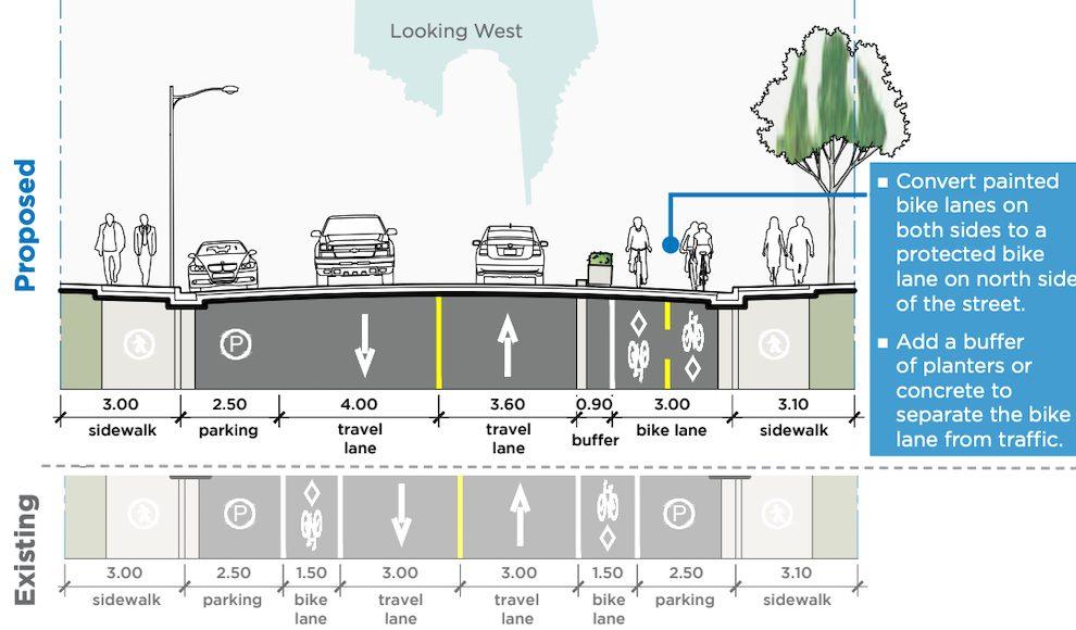 smithe street bike lane burrard thurlow