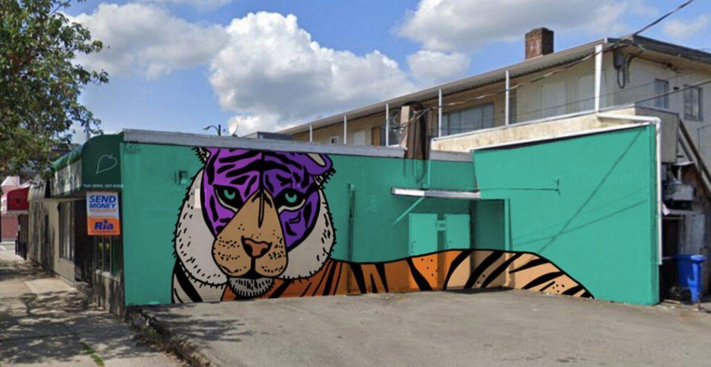 punjabi market vancouver tiger mural