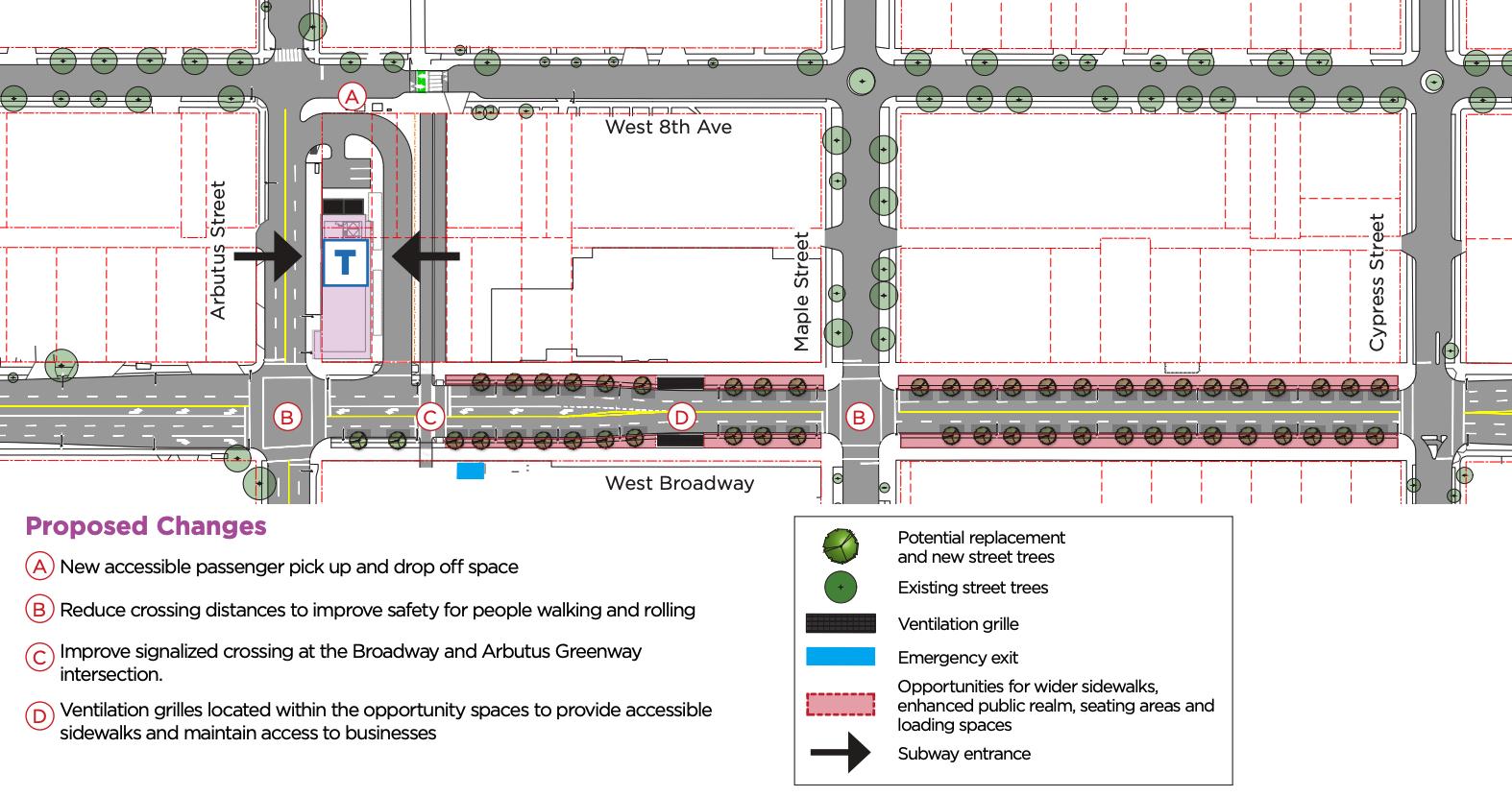 arbutus station broadway road design