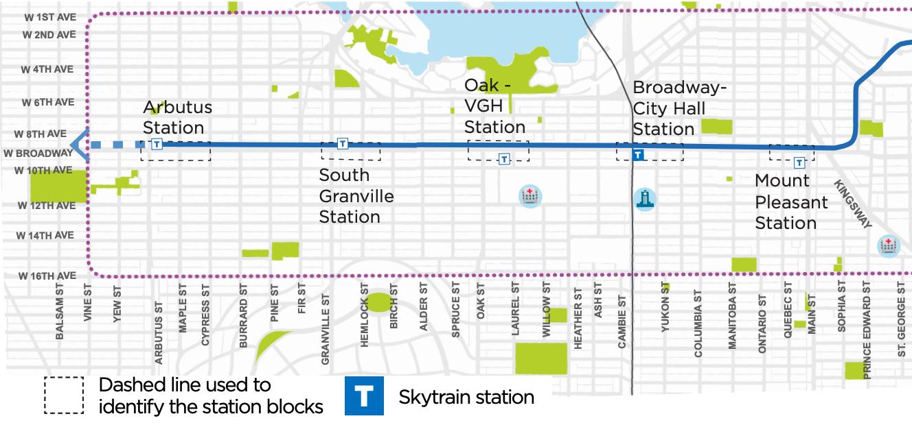 broadway subway road design changes map