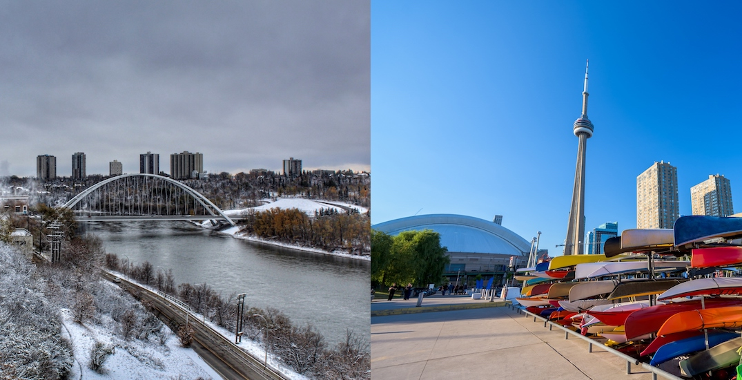 It snowed in Edmonton while Toronto was almost 30°C