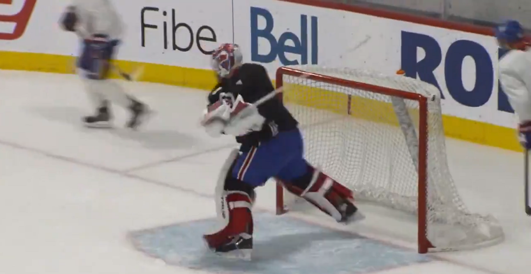 Canadiens goalie Carey Price smashes stick on eve of playoffs (VIDEO)