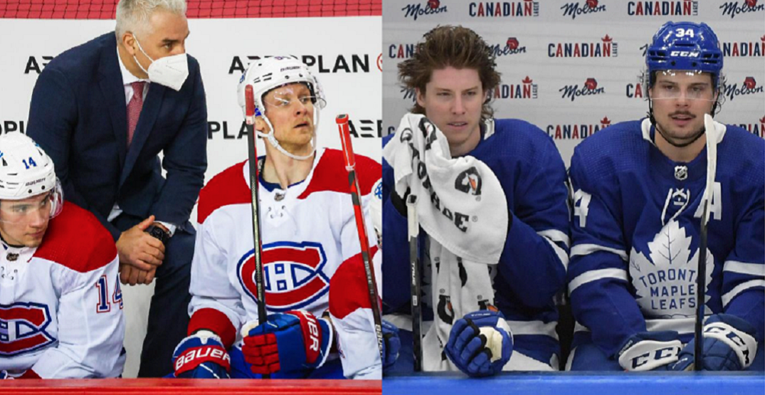 How the Leafs and Canadiens lines set up for tonight's playoff opener