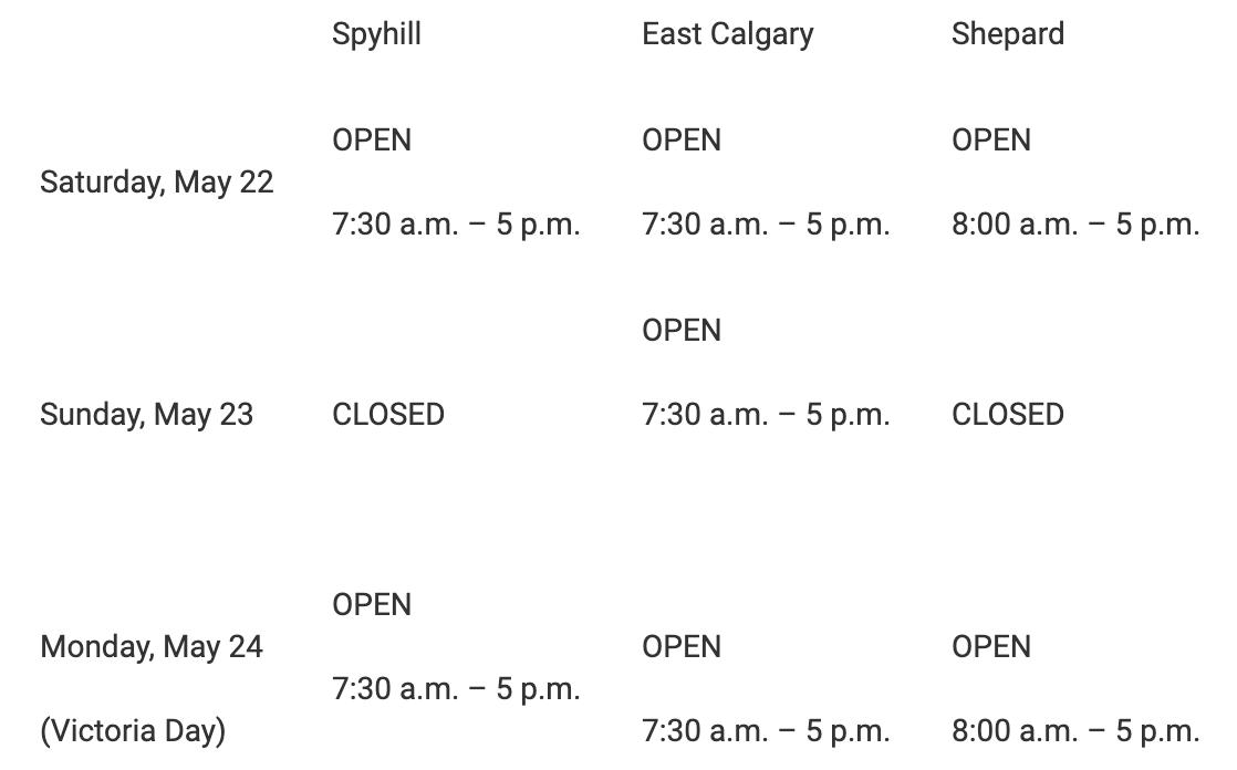 Calgary weekend