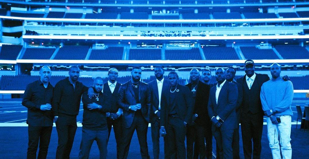Drake rented a massive NFL stadium after winning Artist of the Decade award