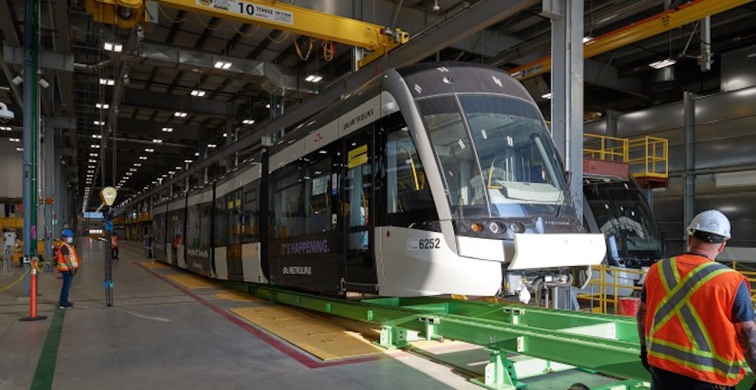 First Eglinton Crosstown LRT trains are making their way to the tracks