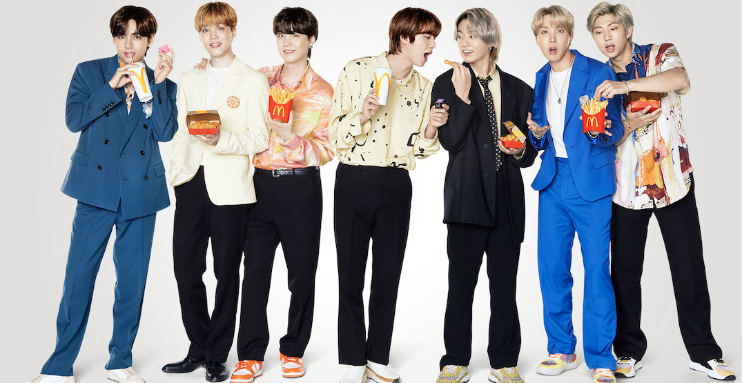 The official BTS meal has arrived at McDonald's Canada