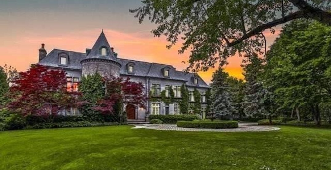 This castle-like Toronto mansion has its own indoor hockey rink