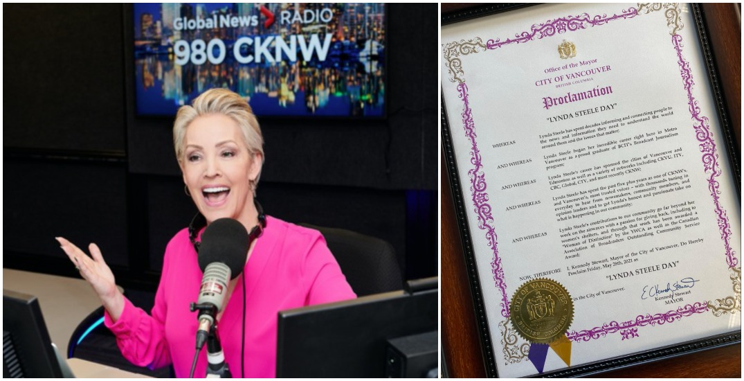 """Vancouver mayor proclaims Friday """"Lynda Steele Day"""" to honour legendary broadcaster"""