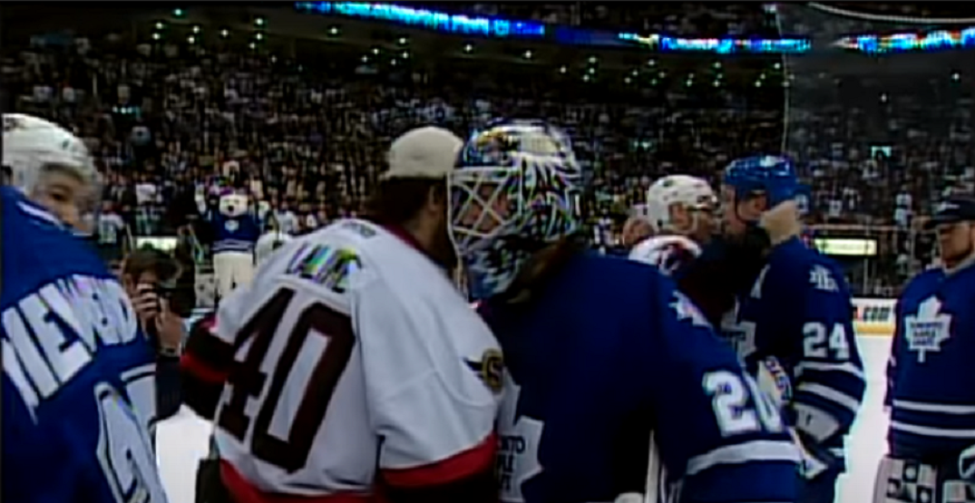 What the Leafs roster looked like the last time they won a playoff series