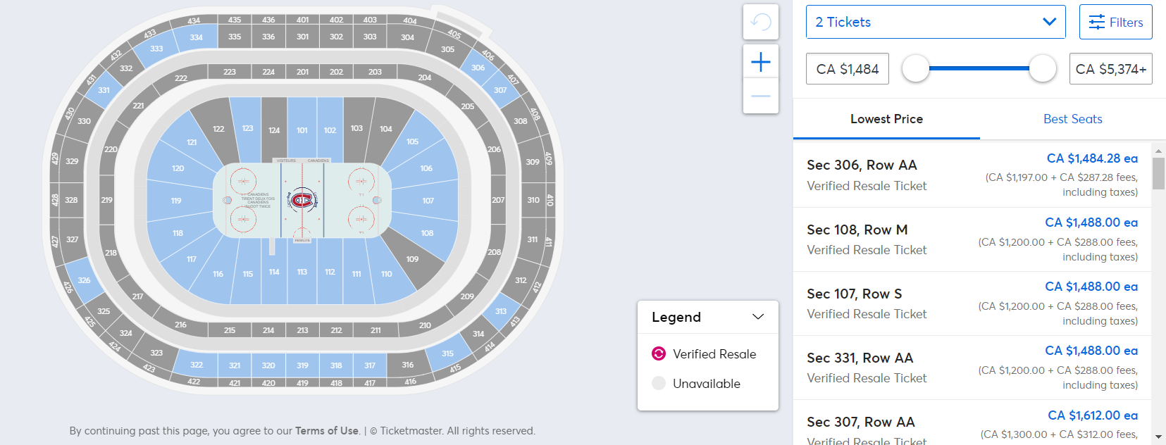 Ticketmaster Canadiens Leafs Game 6