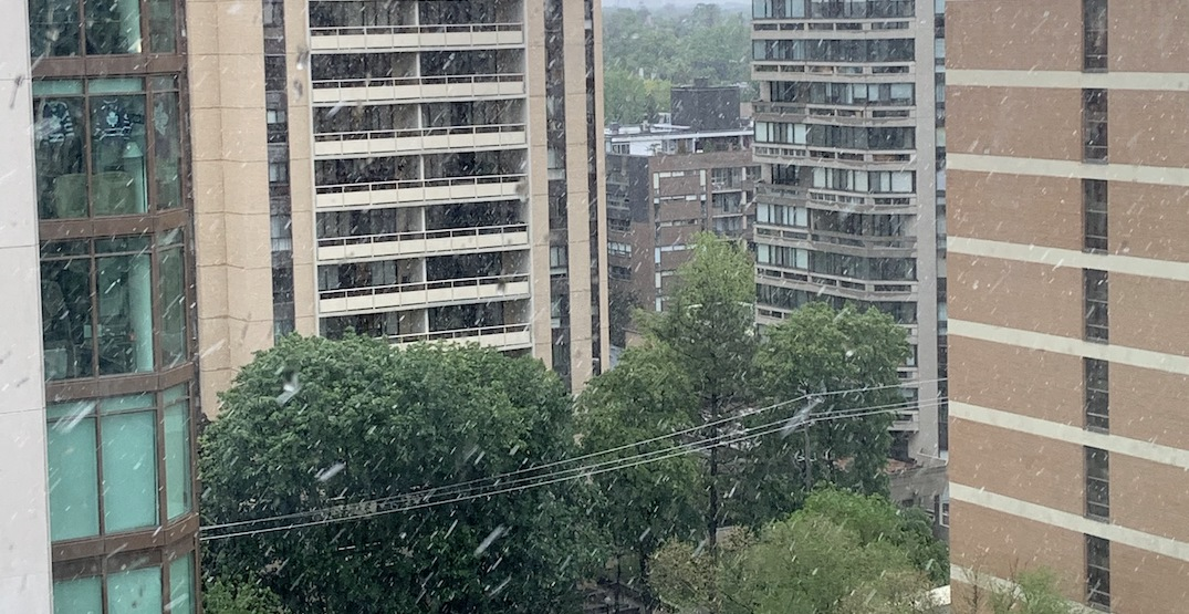 Snow hits Toronto days after sweltering 30°C temperatures