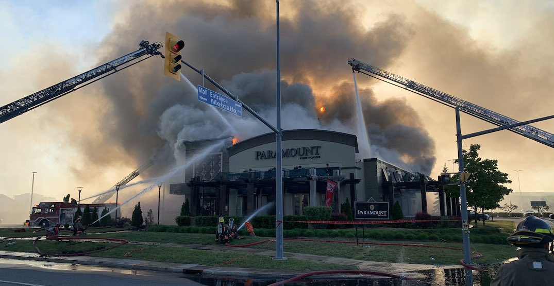 Massive fire destroys Paramount Fine Foods restaurant in Mississauga