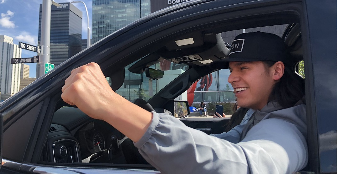 Oilers' Ethan Bear attends anti-racism rally at Rogers Place