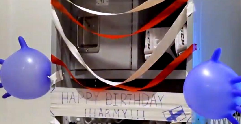Caufield decorates teammate Armia's locker for pre-Game 7 birthday surprise