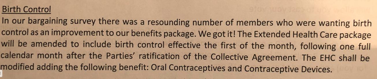 City of Vancouver birth control