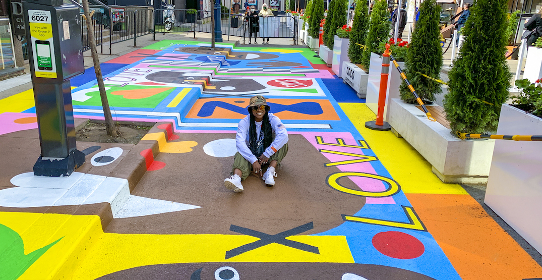 New anti-racial violence mural is brightening a Toronto street