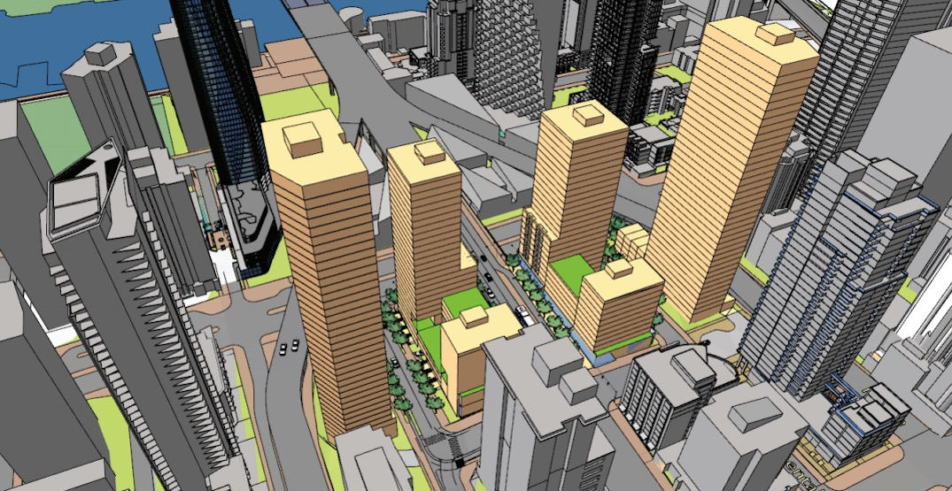 Six towers proposed to replace Granville Bridge's north loops
