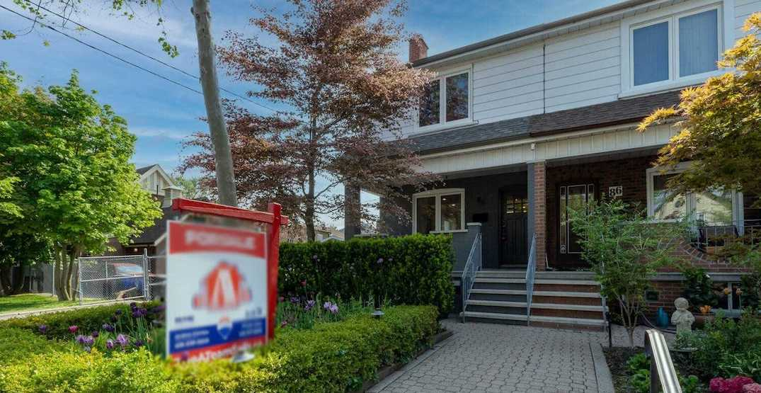 This Toronto semi-detached just sold for $502,500 over the asking price