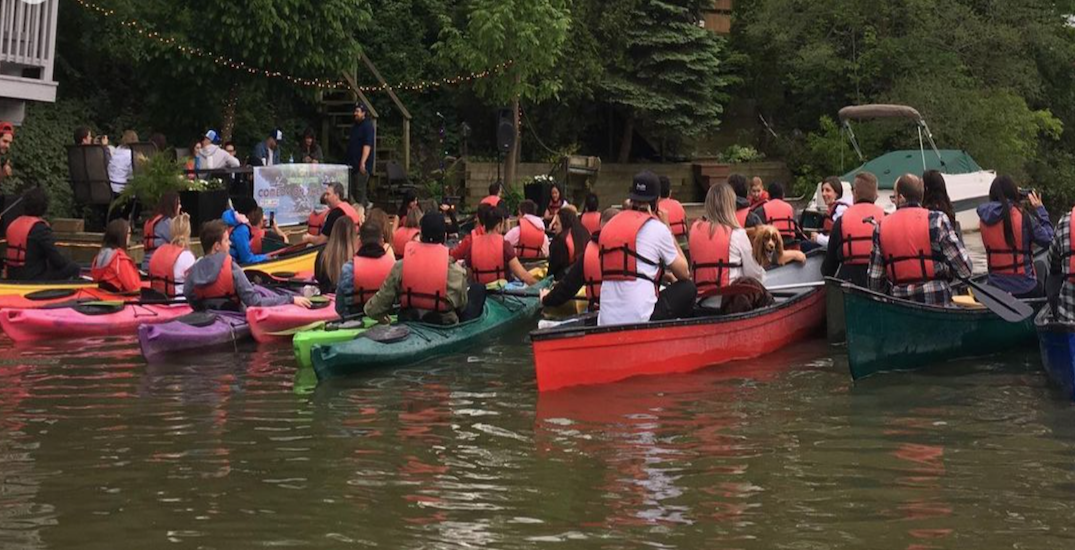 You can watch concerts from a canoe this summer in Toronto