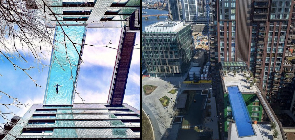Sky Pool: World's first transparent pool between towers opens in London (VIDEO)
